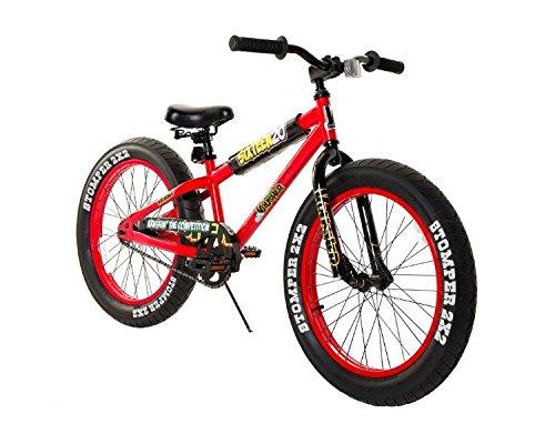 black and red boys bike