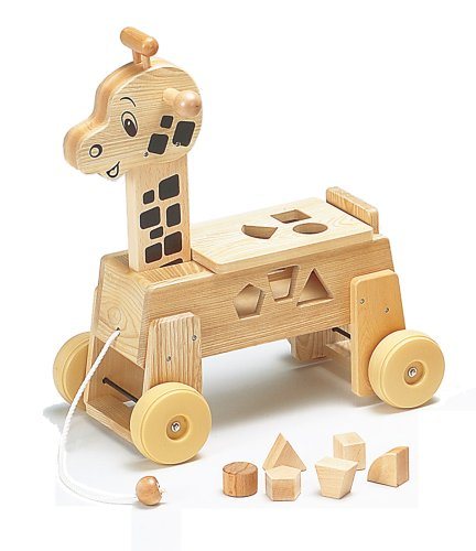 giraffe wood puzzle ride on