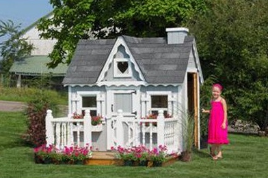 Outdoor Victorian Playhouse for Girls