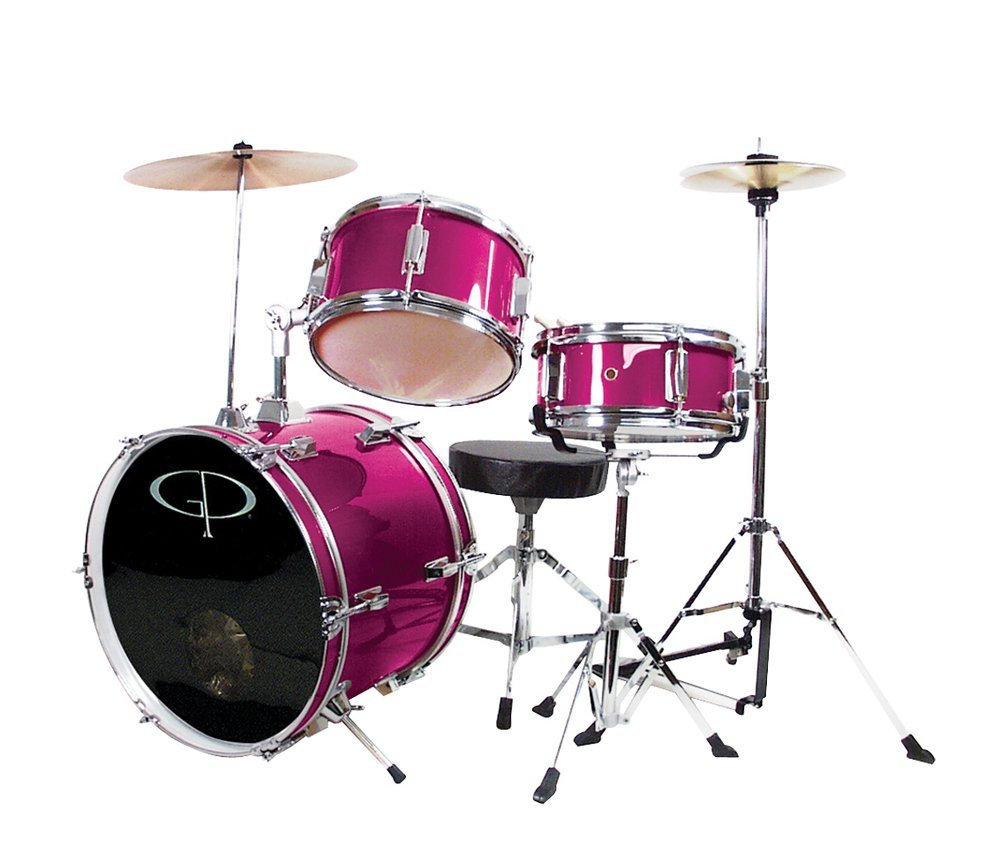 hot pink drum set