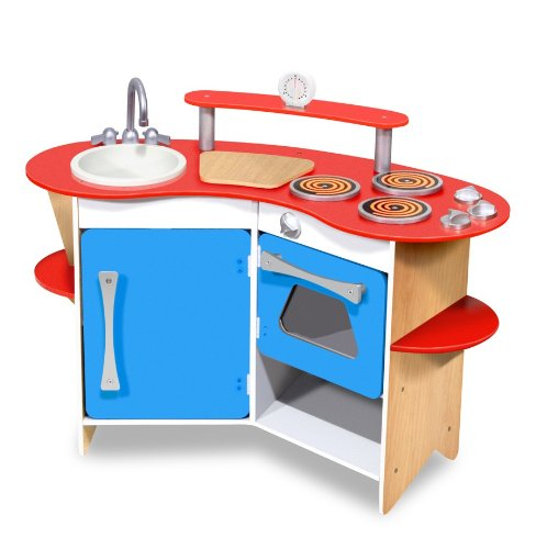affordable wooden toy kitchen for kids