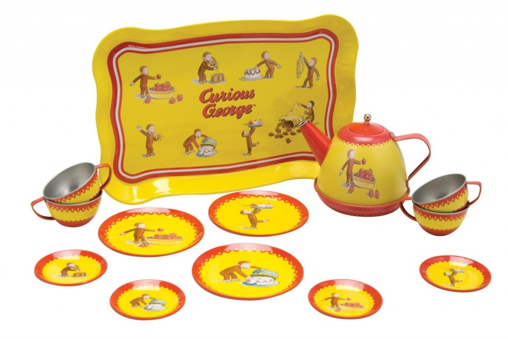 Curious George Tin Tea Set for Kids