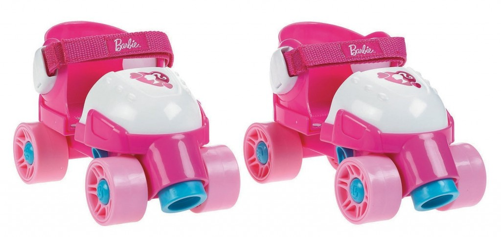 Cute Barbie Roller Skates for Toddler Girls