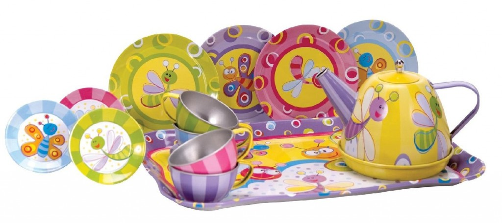 Adorable Tin Tea Set for Girls