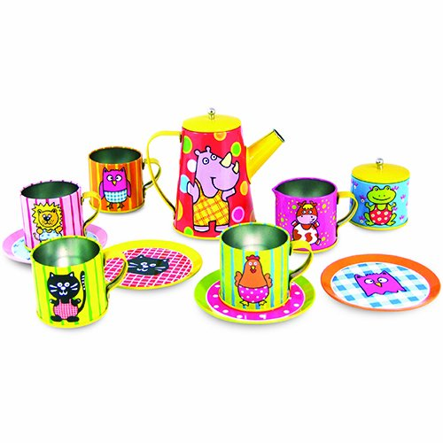 cute metal tea sets for girls