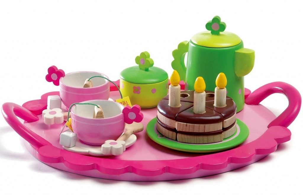 Wooden Birthday Tea Party Set