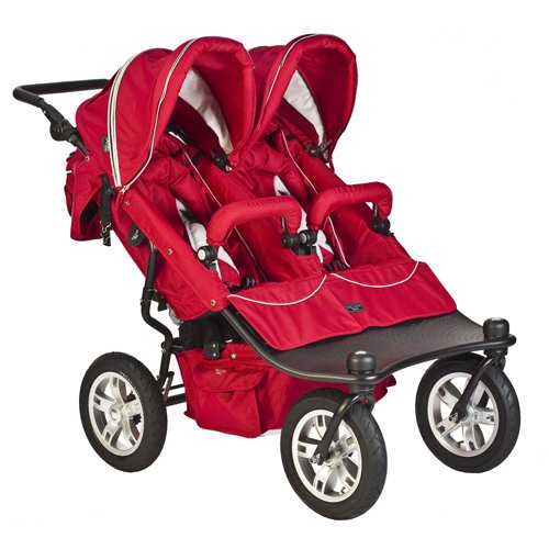 heavy duty double stroller red