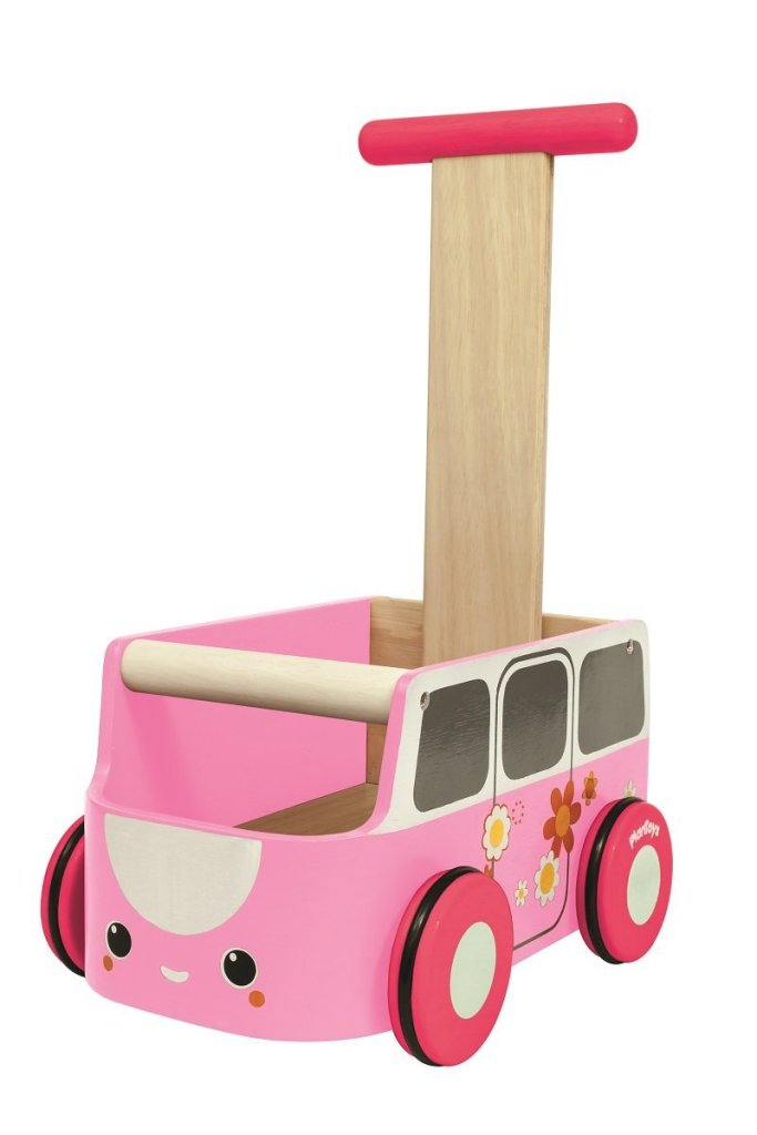 Cute Pink  Van Walker Toy for Girls
