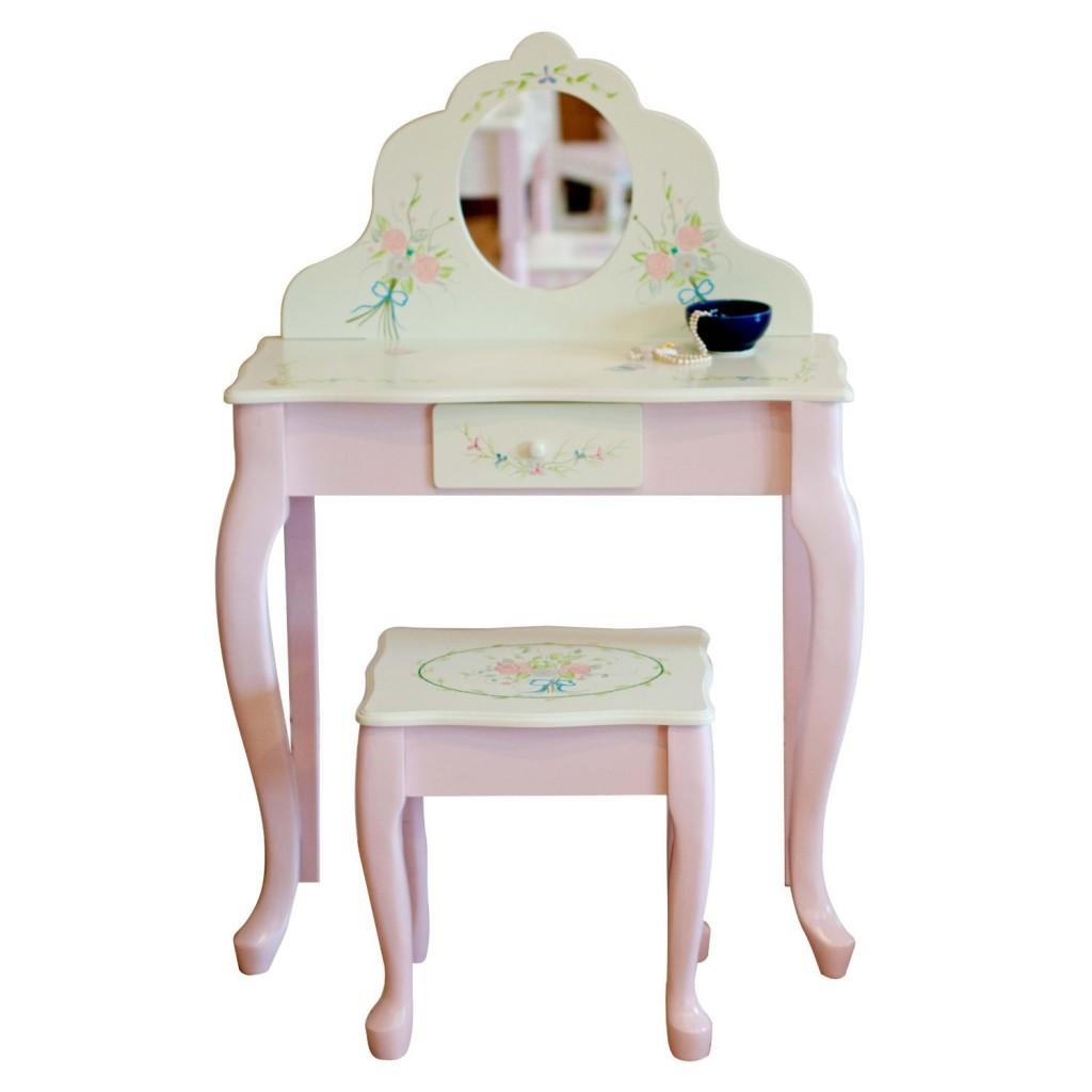 Classic Vanity Table & Stool Set