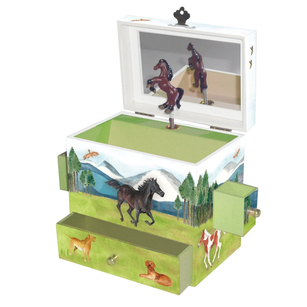 cute horse jewelry box for girls