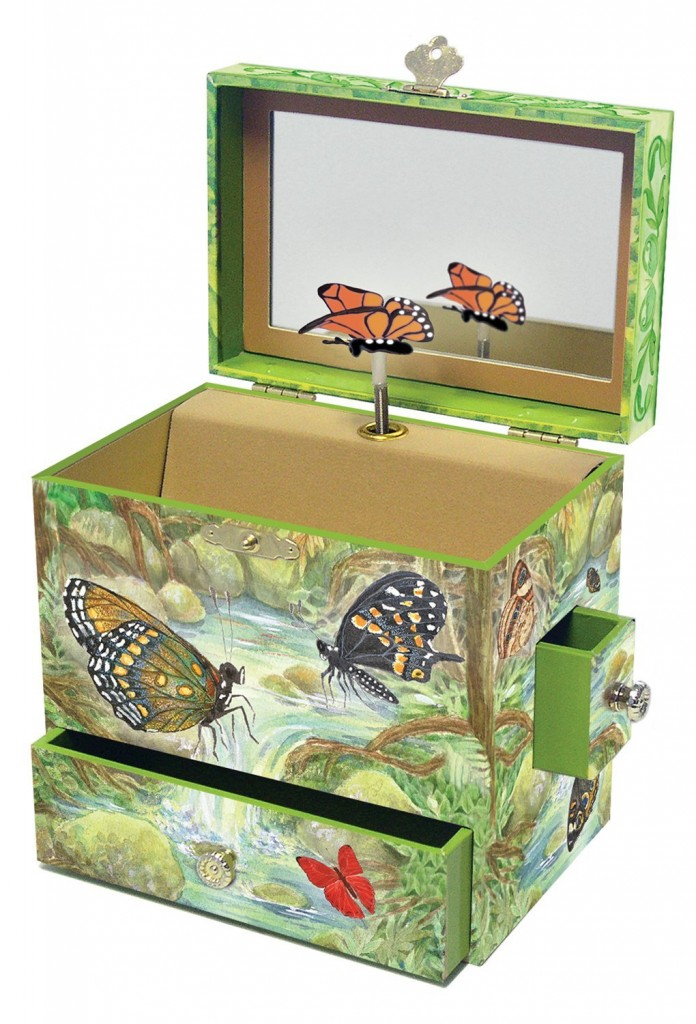 beautiful butterfly jewelry box for girls