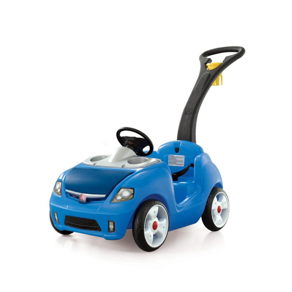 cute push blue car for toddlers