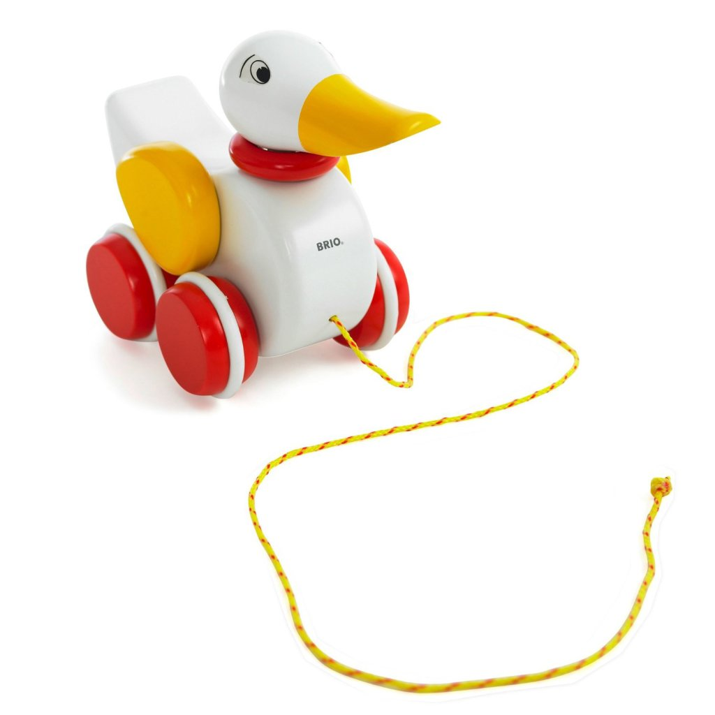cute wood duck pull toys for toddlers