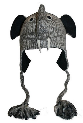 elephant face wool hat
