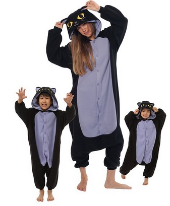 cool black cat animal pajamas