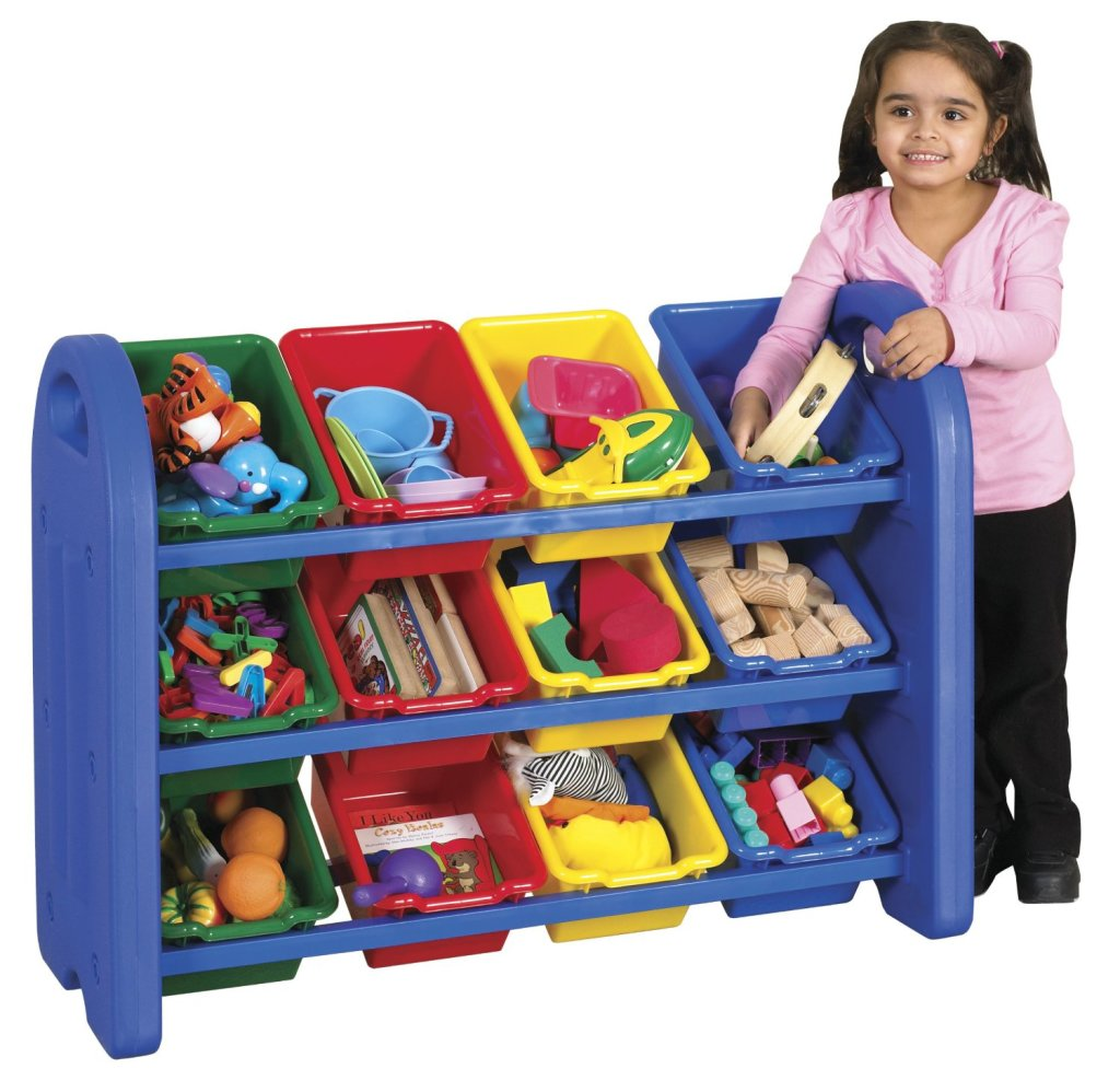 Colorful  3-Tier Toy Storage Organizer with 12 Bins
