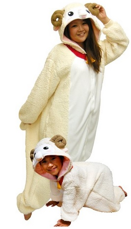 cozy sheep costume pajamas
