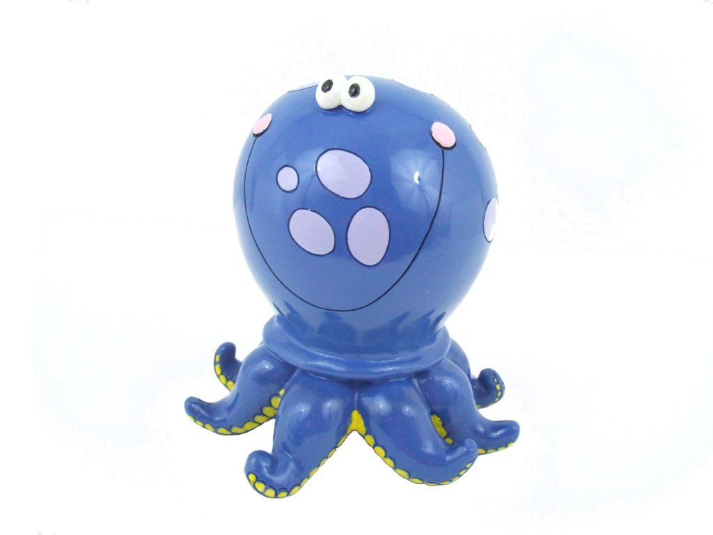 Blue Polka Dot Octopus Piggy Bank