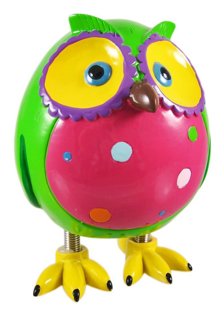 Super Cute Green Owl Piggy Bank