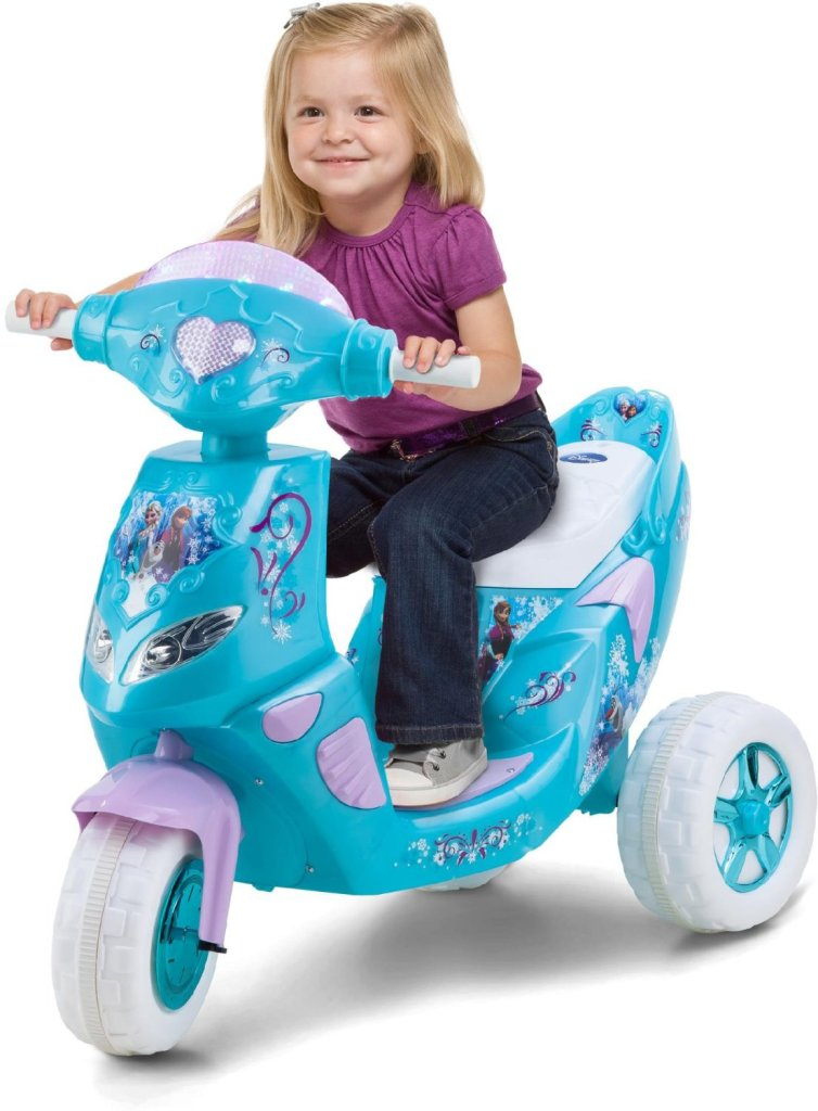Disney Frozen Toddler Girl's Lights & Sound Powered Ride-On Scooter
