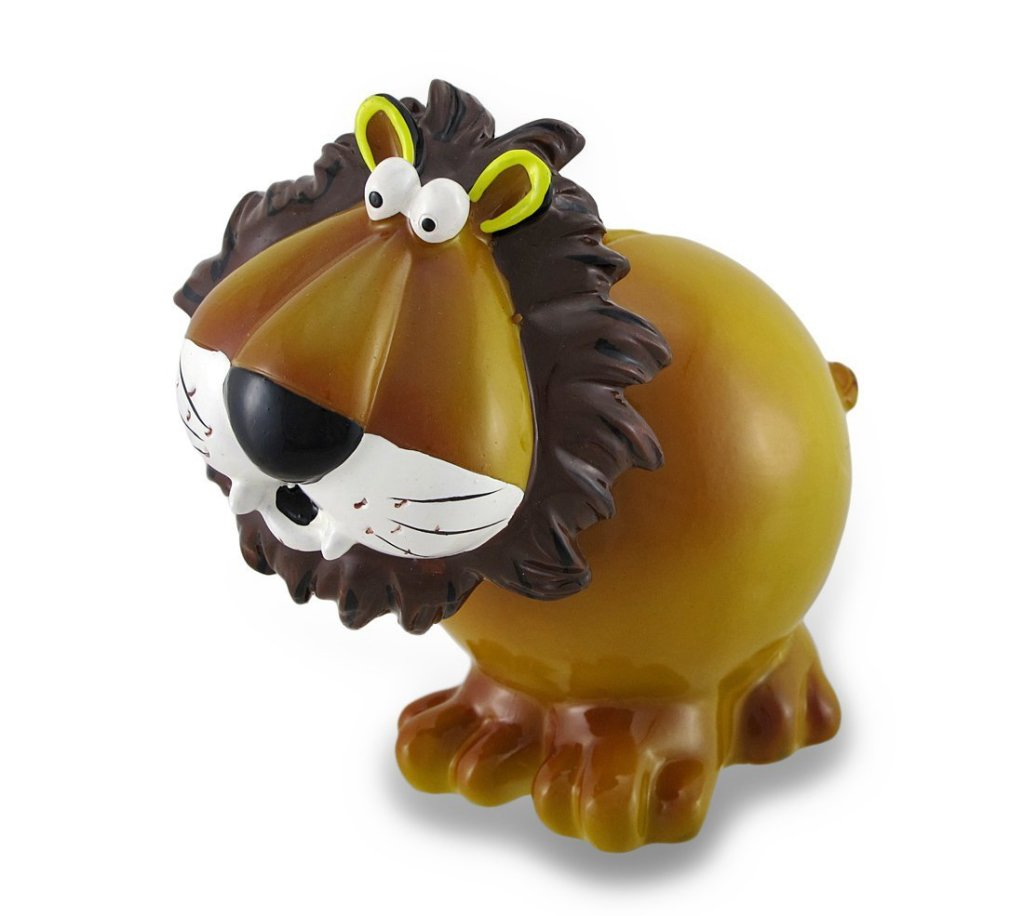 funny lion piggy bank