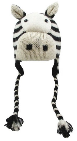 Funny  Zebra Face Wool Hat