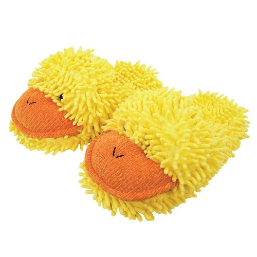 fuzzy yellow duck Adult Slippers