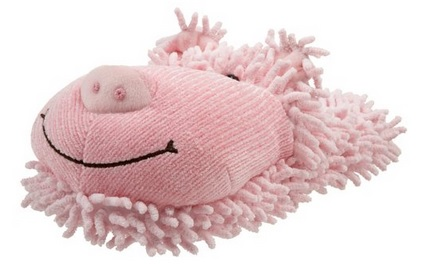 fuzzy pink pig slippers for women