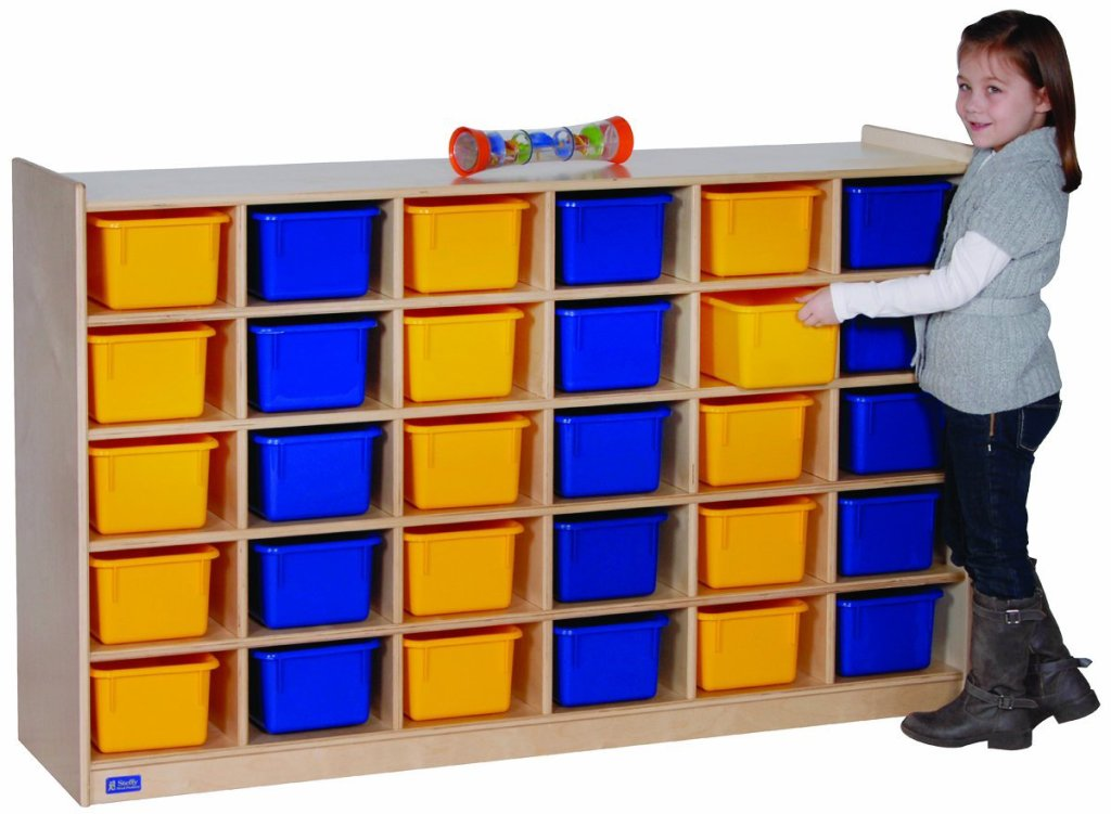 Huge Toy Storage Unit with Colorful Bins