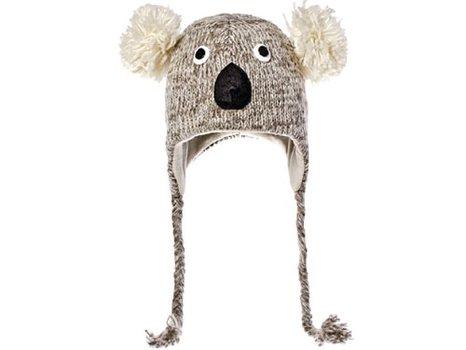 Cute Koala Face Wool Pilot Hat