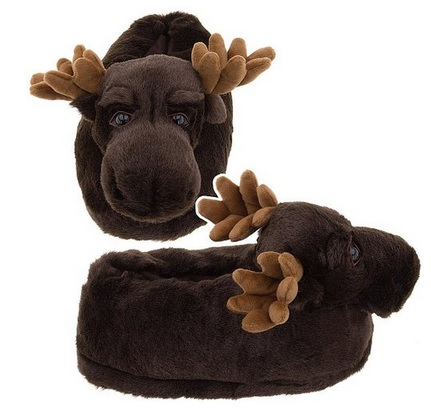 Moose Slippers for Women