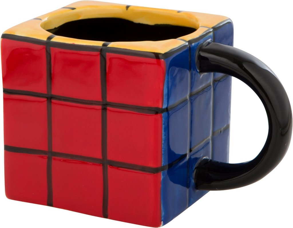 fun rubiks cube shape mug