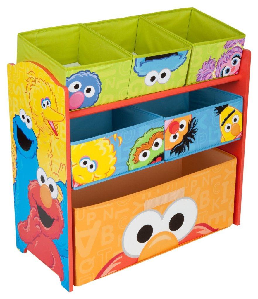 Exceptional Sesame Street Multi Bin Fabric Toy Organizer Great Pictures