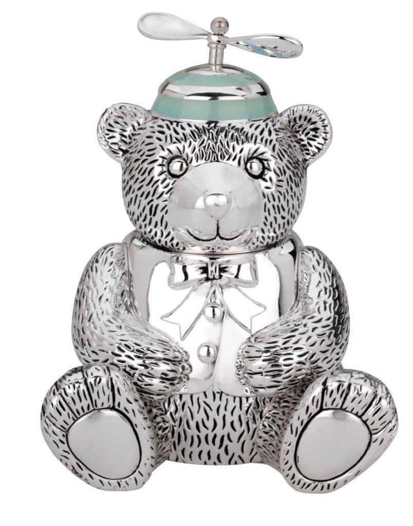 Cute Silver Bear Piggy Bank for Boys
