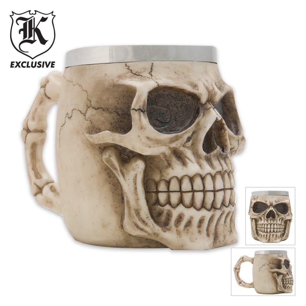 realistic Skull Coffee Mug