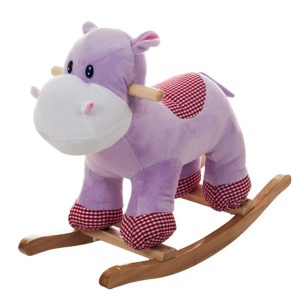 cute plush hippo rocker for toddlers