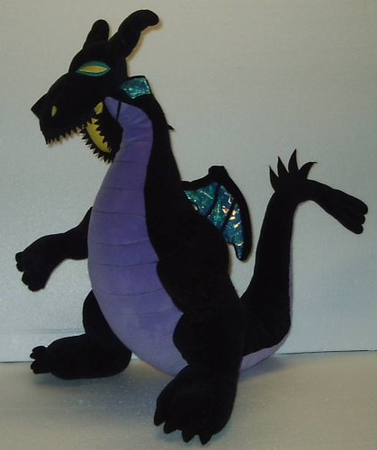 Large Black Stuffed Dragon From Sleeping Beauty
