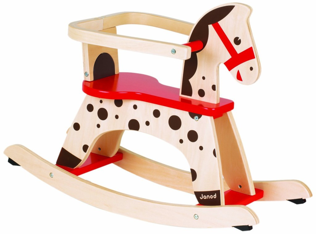 Colorful Wood Rocking Horse for Toddlers