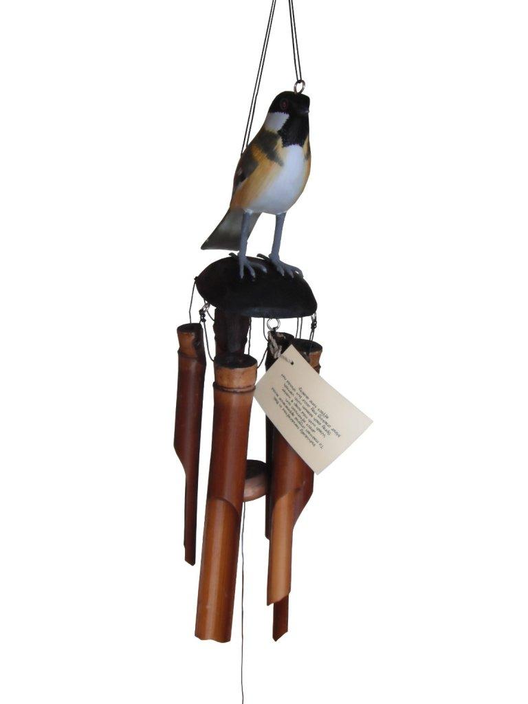 Cute Chickadee Bird Bamboo Wind Chime