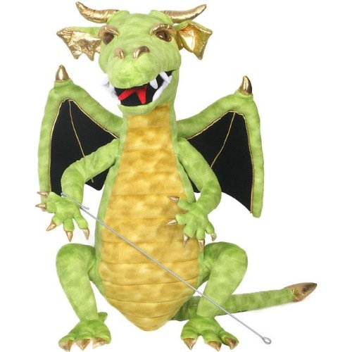 Cool Green Dragon Puppet