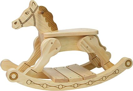 fun wood rocking horse for kids