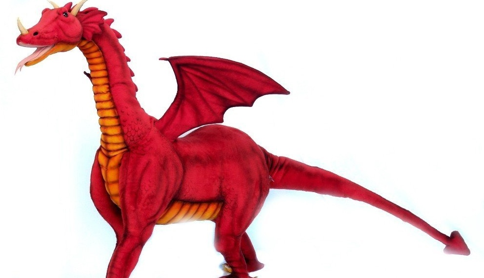 Giant Red Dragon Ride on Toy