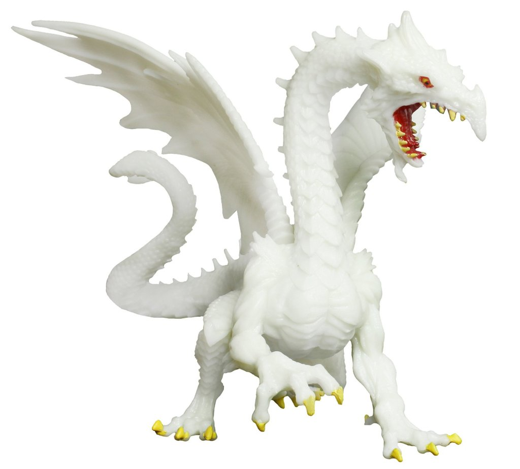 Glow-in-the-Dark Snow Dragon Toy Figure