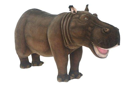 giant ride on plush hippo