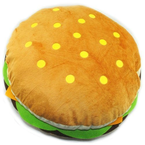 Huge Hamburger Throw Pillow