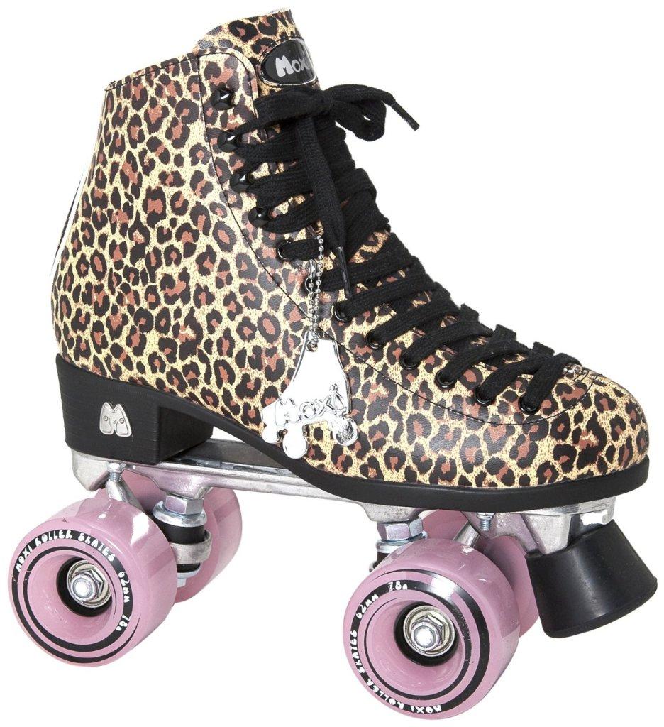 leopard print roller skates for women