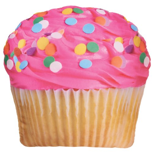 Cute Pink Icing Cupcake Pillow for Sale