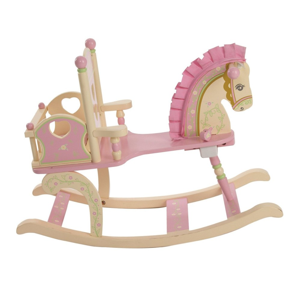 wood rocking horse chair for toddler girls