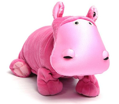 pink plush hippo