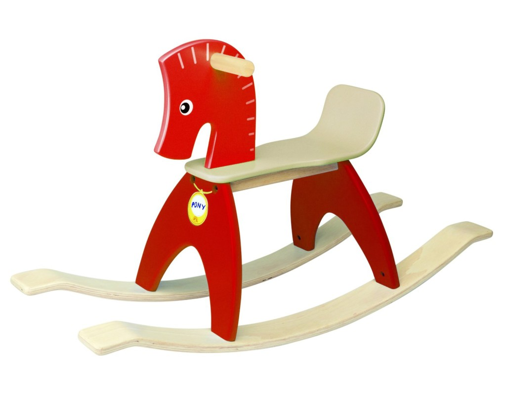Gorgeous Red Wood Rocking Horse